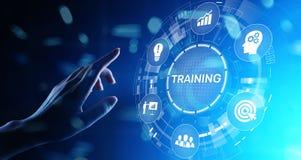 Training Online Education Webinar Personal Development Motivation E-learning Business concept on virtual screen. vector illustration