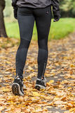 Training outdoor in autumn day Stock Photography