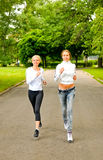 Training in the park Stock Photography