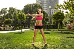 Training in the park Royalty Free Stock Photos