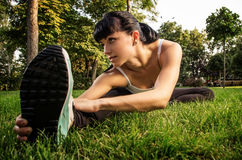 Training in the park Royalty Free Stock Photography
