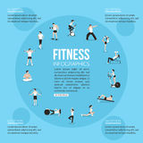 Training people icons set for sport and fitness Stock Photo