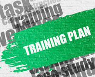 Training Plan on White Brick Wall. Royalty Free Stock Photography