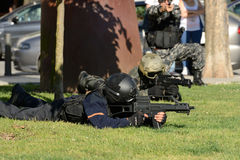Training of police special forces Stock Photo