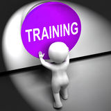 Training Pressed Means Education Induction Or Seminar Stock Images