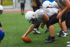 "Training of the Primorsky American Football Team ""Wild Padny"" royalty free stock image"