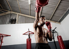 Training punch Royalty Free Stock Photography