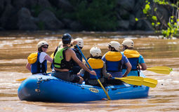Training for rafting on the Potomac River Stock Photography