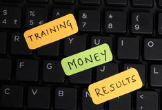 Training and results stock photos