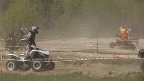 Training in riding ATVs and buggies stock video
