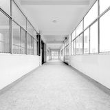 Training room corridor Royalty Free Stock Images