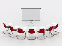 Training room with marker board and chairs Royalty Free Stock Photo