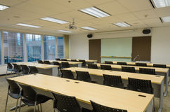 Training room in office building. Large training room in high rise office building Stock Images