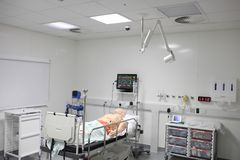 Training room to practice life support skills Stock Photography