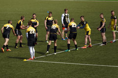 Training of rugby sevens team Royalty Free Stock Photos