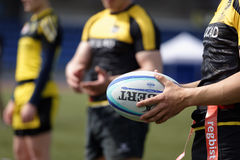 Training of rugby sevens team Stock Photos