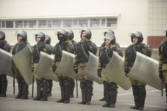 Training of Russian police. Special Forces. SWAT. Royalty Free Stock Photography