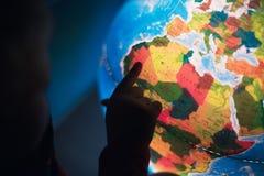 Training. School glowing multi-colored globe. stock photography