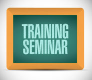 Training seminar board sign illustration design Stock Photos
