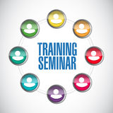 Training seminar people network illustration Stock Photos