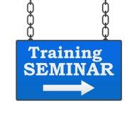 Training Seminar Signboard Stock Photo