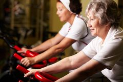 Training seniors Royalty Free Stock Images