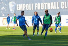 Training session of the team Empoli Football Royalty Free Stock Photo