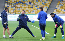 Training session of Ukraine National Football Team in Kiev Stock Photos