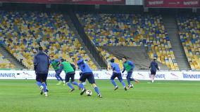 Training session of Ukraine National Football Team in Kiev stock video