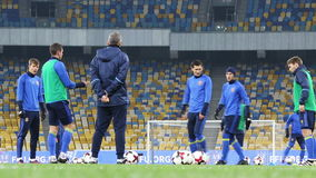 Training session of Ukraine National Football Team in Kiev stock video footage