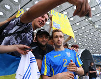 Training session of Ukraine National Football Team in Kyiv Royalty Free Stock Photo