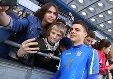 Training session of Ukraine National Football Team in Kyiv Stock Photos