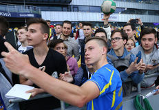 Training session of Ukraine National Football Team in Kyiv Stock Images