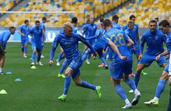 Training session of Ukraine National Football Team in Kyiv Royalty Free Stock Photos