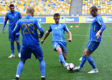 Training session of Ukraine National Football Team in Kyiv Stock Photography