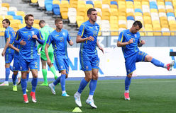 Training session of Ukraine National Football Team in Kyiv Royalty Free Stock Image