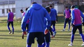 Training session of Ukraine National Football Team stock footage
