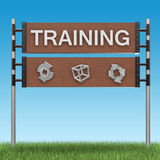 Training sign Royalty Free Stock Photo