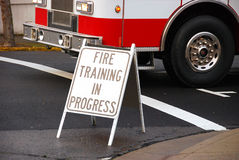 Training Sign Stock Image