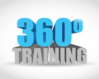 360 training sign illustration design. Over a white background Royalty Free Stock Image