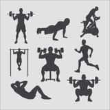 Training silhouettiert Sammlung Lizenzfreie Stockfotos
