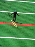 Training in ski jumping Stock Images