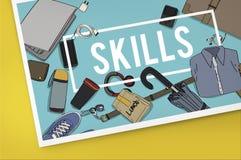 Training Skills Development Improve Concept. Training Skills Development Improve Graphics Concept Stock Illustration