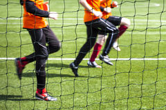 Training of soccer players. Royalty Free Stock Photos