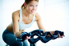 Training on sport equipment Stock Photos