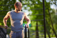 Training on sport facilities Royalty Free Stock Image