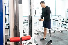 Training on sport gym royalty free stock photography