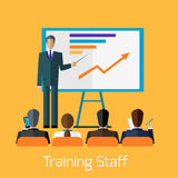 Training Staff Briefing Presentation Royalty Free Stock Images