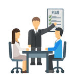 Training staff briefing presentation vector Royalty Free Stock Photography