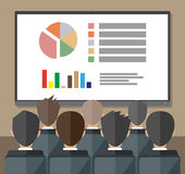 Training staff, meeting, report, business school Royalty Free Stock Image